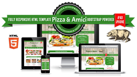 Pizza and Amici Template Preview
